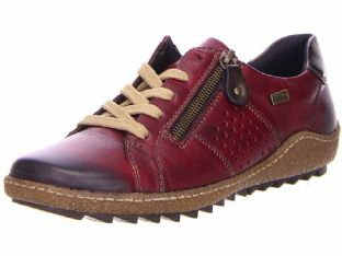 Remonte R4717-35 Ladies Red Combination Shoes With Zipper